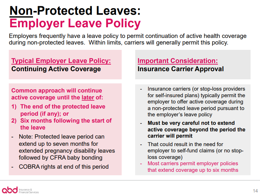Terminating Health Benefits for Employees on Disability