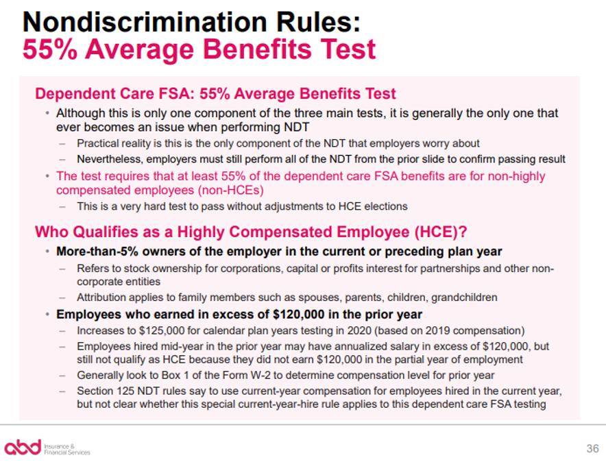 Nondiscrimination Rules: 55% Average Benefits Test pt. 1