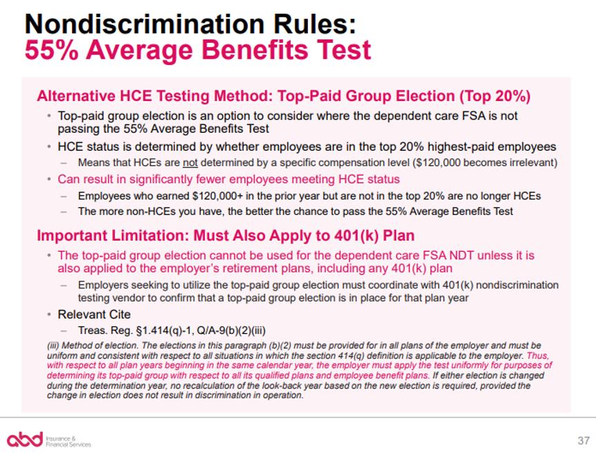 Nondiscrimination Rules: 55% Average Benefits Test pt. 2