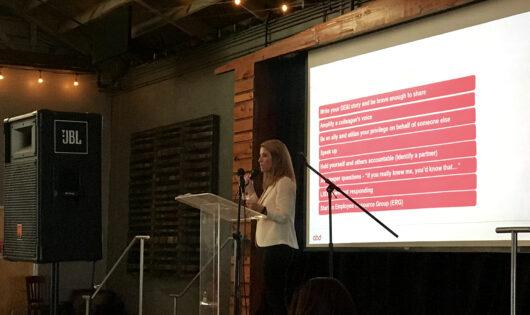 Amy Steadman at the DE&I Launch